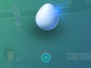 Lucky Egg před odpálením. Na začátku jsem byl na začátku levelu 13. Po skončení už v polovině level 15. Dobrých 30 minut.