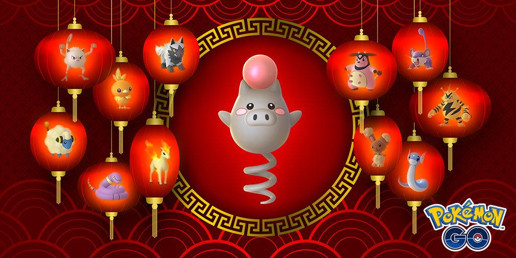 Oslava nového lunárního roku (Lunar New Year 2019) přináší 2x více zkušeností a a zvýšenou šanci na Lucky pokémony